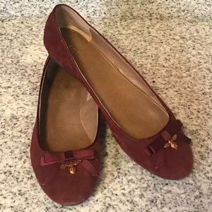 Women's Red Fossil Flats Size 9
